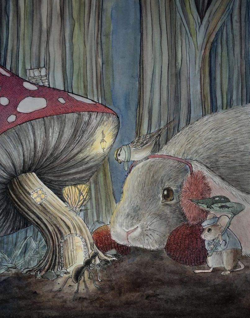 """""""The Mushroom In The Rain""""  Andréa Rios"""