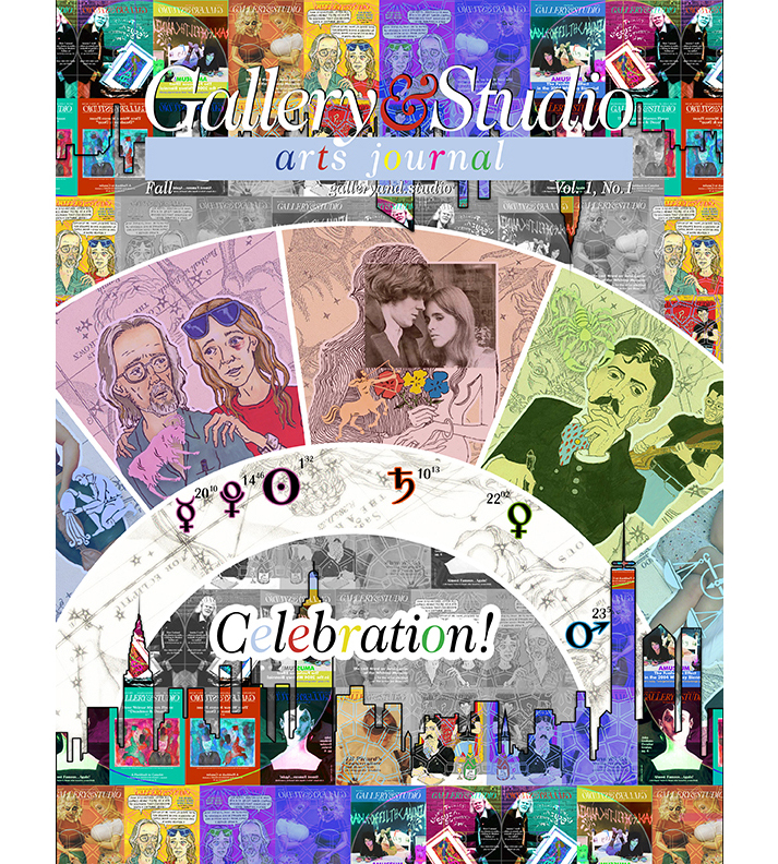 Cover of G&S Arts Journal Volume 1 Edition 1. Cover image by Sebatien Aurillon, artistic rendition of the astral chart of the G&S organization.