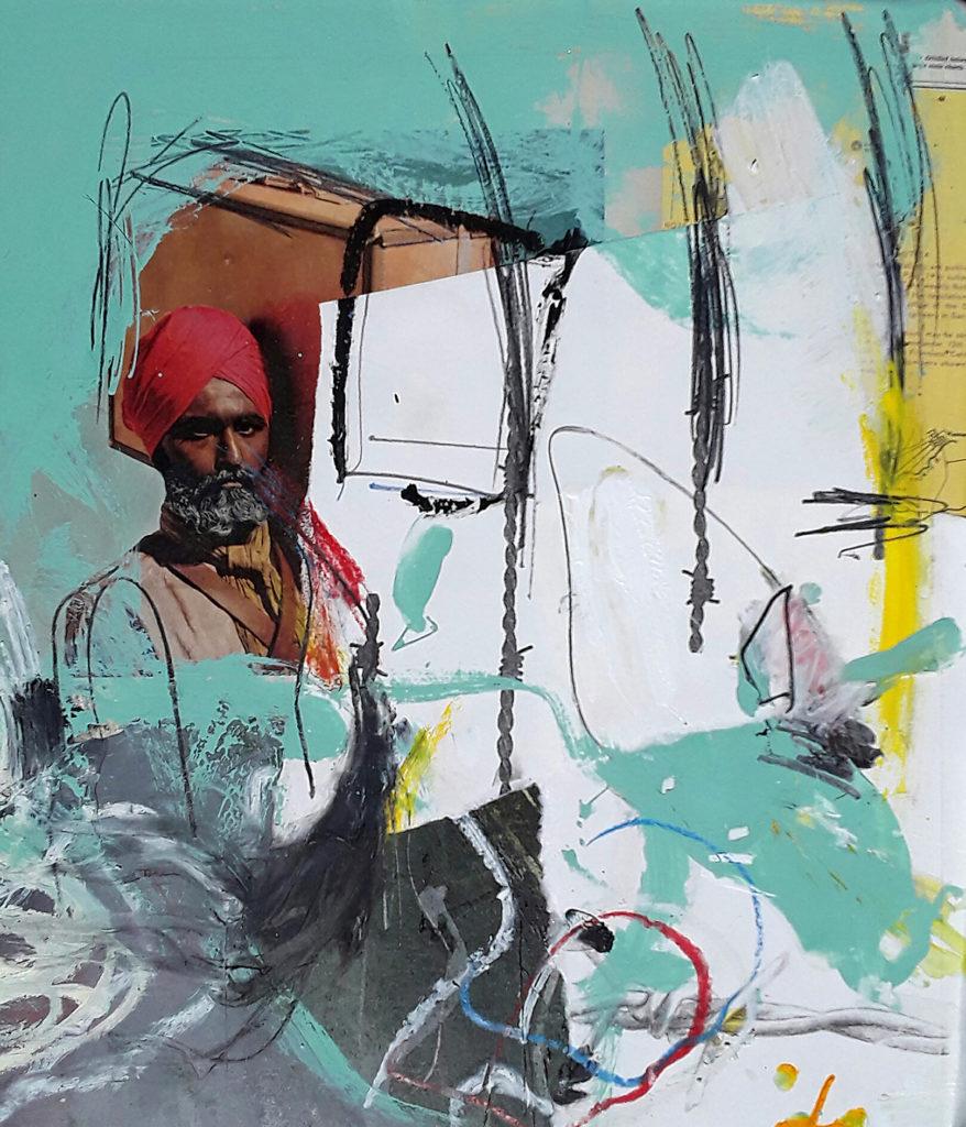 Mixed media painting by Carl Heyward
