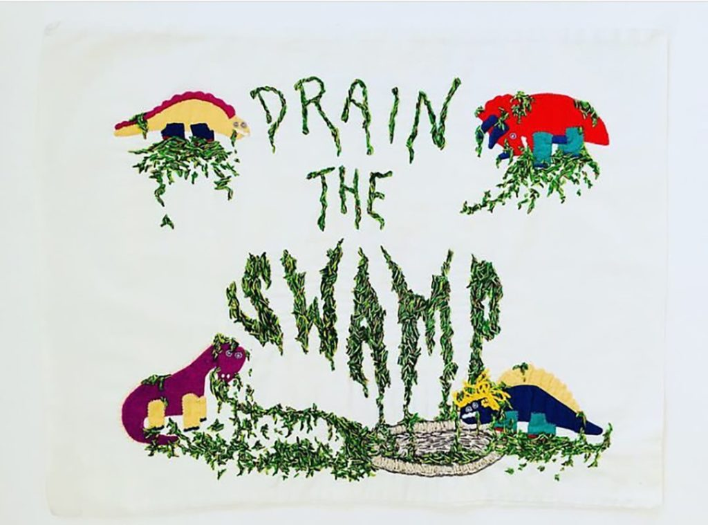 "Embroidery ""Drain the Swamp"""