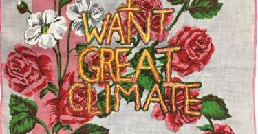"Embroidery ""I want Great Climate"" -"
