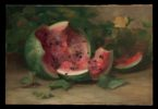 """Untitled ""(Cracked Watermelon), ca. 1890, Oil on canvas - The Metropolitan Museum of Art"