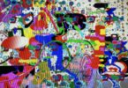 abstract digital image - colorful and busy detailed abstract images