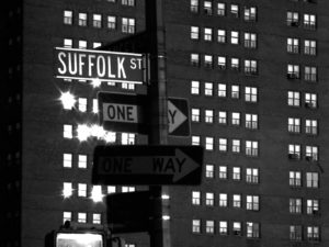 "Street sign that says, ""Suffolk St."""