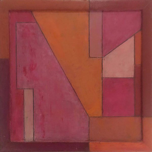 abstract pink geometric painting