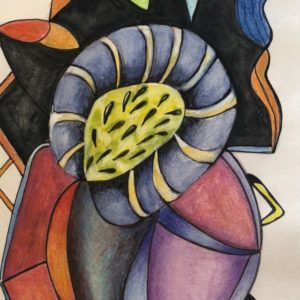 abstract drawing of a flower like image