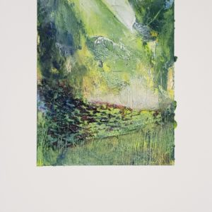 abstract expressionist work in green